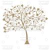 Fancy Swirls Autumn Tree Silhouette SVG Cut File