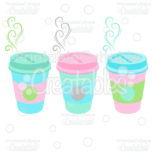 Coffee With Flourishes SVG Cutting File Clipart