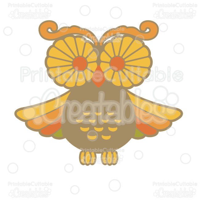 Autumn Owl SVG Cutting File & Clipart