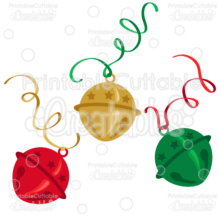 Christmas Sleigh Bells SVG Cutting Files & Clipart