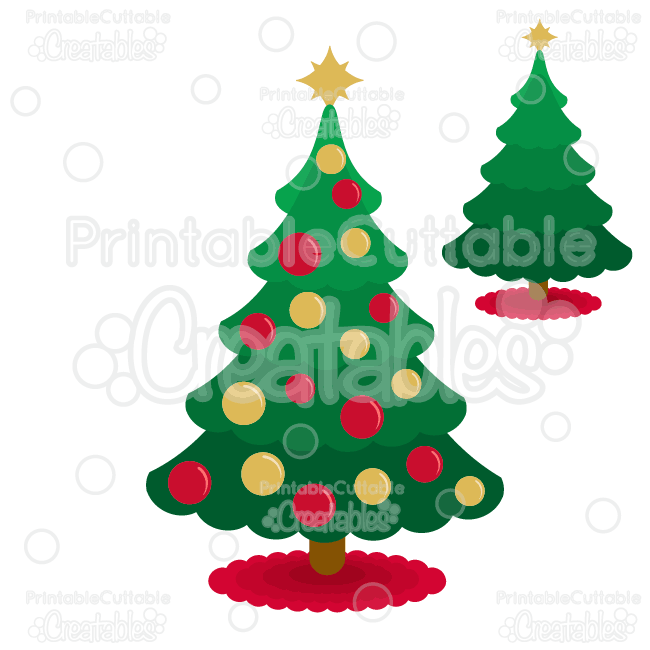 Scallop Christmas Tree Free SVG Cut File & Clipart