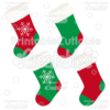 Snowflake Christmas Stockings Free SVG Cut Files & Clipart