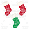 Snowflake Flourishes Christmas Stockings SVG Cut Files & Clipart