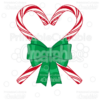 Candy Cane Heart SVG Cutting File & Clipart