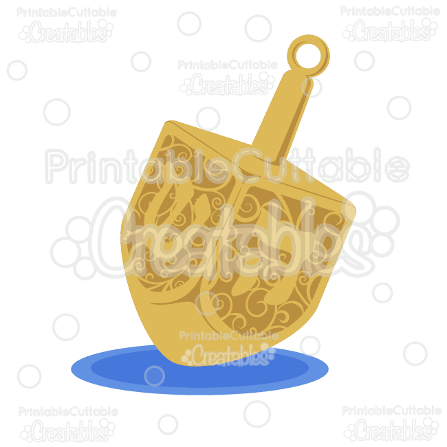 Chanukah Dreidel Free SVG Cutting File & Clipart
