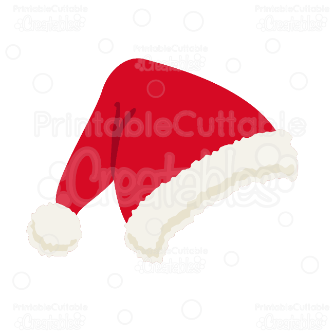 8292491189a40 Santa Hat Free SVG Cutting File   Clipart