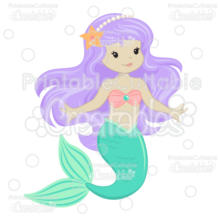Cute Mermaid SVG Cut Files & Clipart