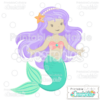 Cute Mermaid SVG Cut File Clipart 2