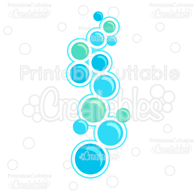 Bubbles Free SVG Cutting Files & Clipart