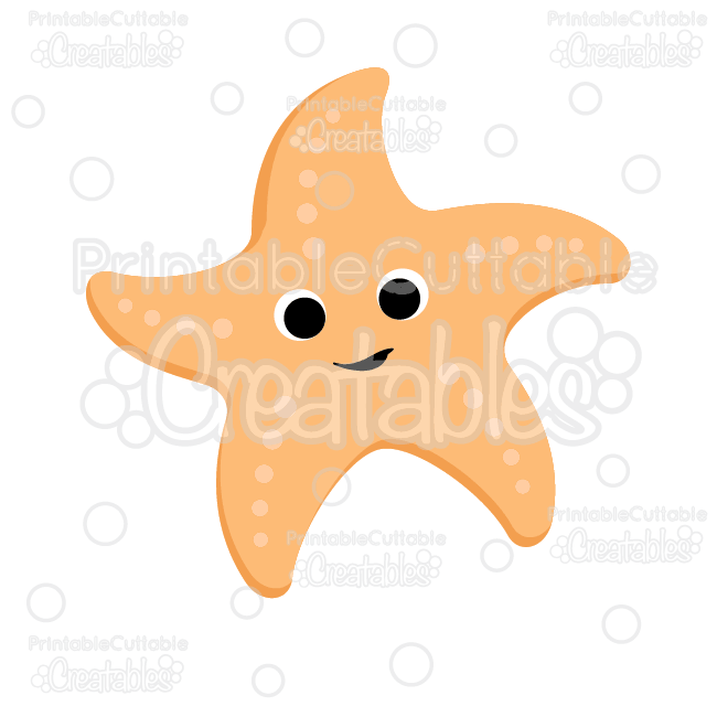 Cute Starfish SVG Cut File & Clipart