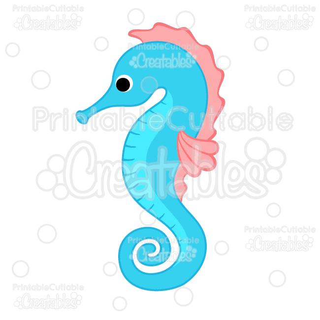 Cute Seahorse SVG Cut File & Clipart