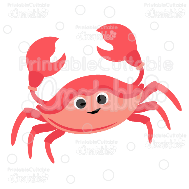 Cute Crab SVG Cut File & Clipart