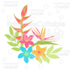 Tropical Plumeria & Heliconia Flowers SVG Cut Files