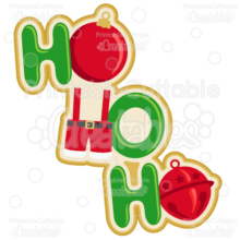 Santa Ho Ho Ho SVG Cut File & Clipart