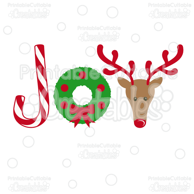 Joy Christmas SVG Cutting File & Clipart