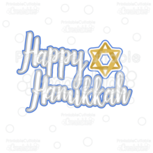 Happy Hanukkah Title SVG Cutting File & Clipart
