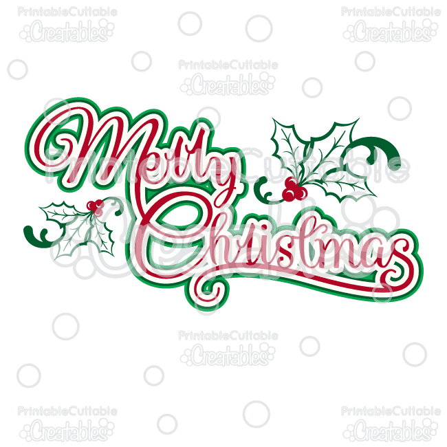 Merry Christmas Title SVG Cutting File