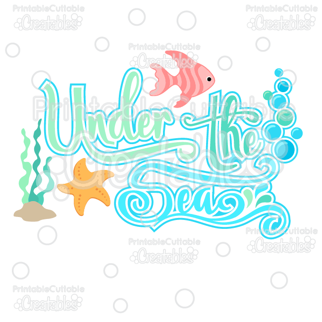 Under the Sea SVG Cutting File Scrapbook Title