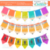 Lil Crayons & Pencils Banners Set SVG Cut File & Clipart
