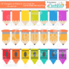 Lil Crayons & Pencils Borders Set SVG Cut File & Clipart