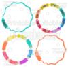 Crayons & Pencils Circle Monogram Frames SVG Cut File & Clipart