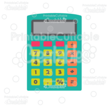 Calculator Free SVG Cut File clipart