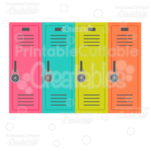 School Lockers SVG Cut File & Clipart