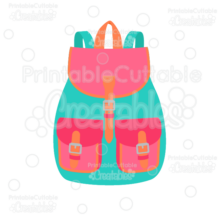 Flap School Backpack SVG Cut File & Clipart