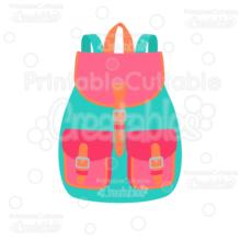 Flap School Backpack SVG Cut File & Clipart