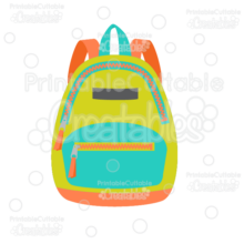 Zipper School Backpack SVG Cut File & Clipart