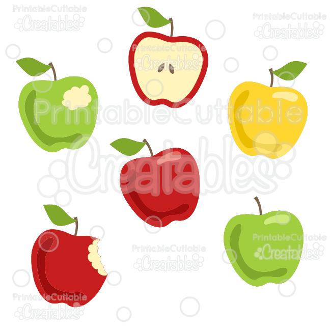 Yummy Apple Set SVG Cut Files & Clipart