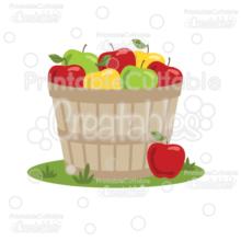 Apple Barrel SVG Cut File & Clipart