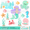 Cute Mermaid SVG Embellishment Set