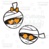 Cute Mummies Halloween SVG Cut Files & Clipart