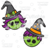 Cute Witch & Warlock Halloween SVG Cut Files & Clipart