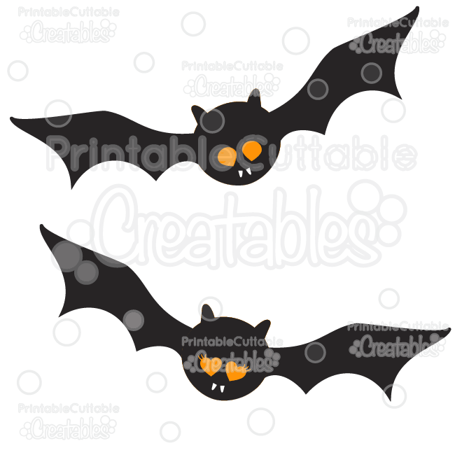 Cute Halloween Bats Free SVG Cut Files & Clipart