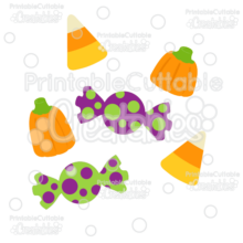 Halloween Candy SVG Cut Files & Clipart