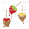 Candied Caramel Apples SVG Cut File & Clipart