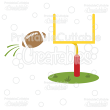 Goal Post & Football Free SVG Cut File & Clipart