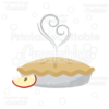 Yummy Apple Pie SVG Cut File & Clipart