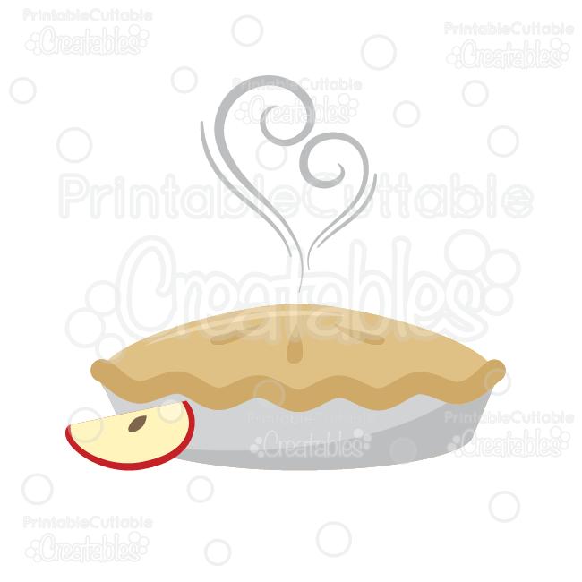 Yummy Apple Pie SVG Cut File & Clipart