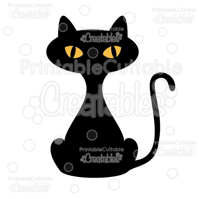 Halloween Black Cat Free Svg Cut File Clipart