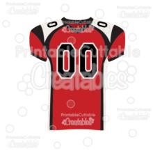 Football Jersey SVG Cut File & Clipart