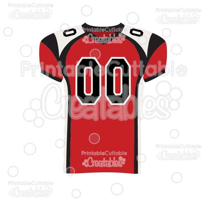 Football Jersey SVG Cut File & Clipart