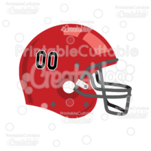 Football Helmet SVG Cut File & Clipart