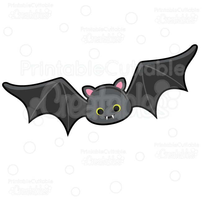 Cute Vampire Bat SVG Cut File & Clipart
