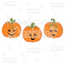 Cute Jack O Lanterns SVG Pumpkins Cut Files & Clipart Set