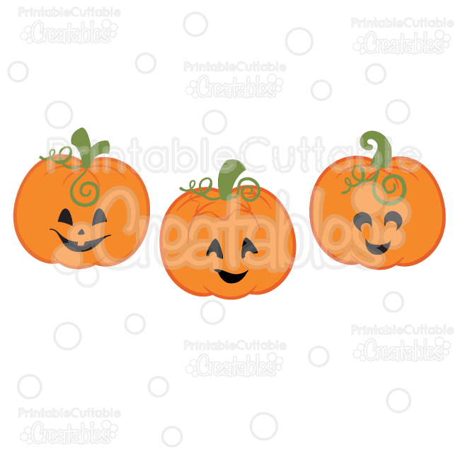 Cute Jack O Lanterns SVG Pumpkins Cut Files & Clipart Set