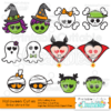 Halloween Cuties SVG & Clipart Embellishments Set