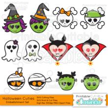 Halloween Cuties SVG Embellishments Set